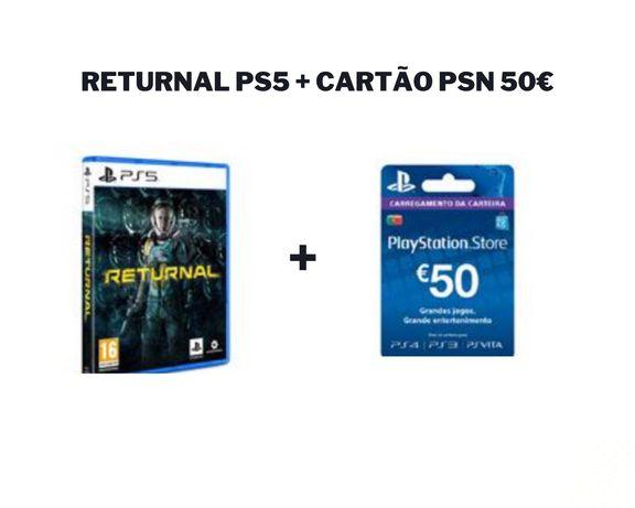 Returnal PS5 + cartão PSN 50€ NOVO SELADO