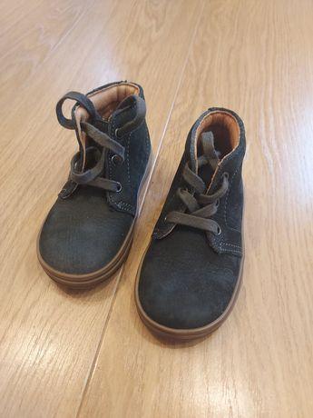 Skórzane buty Richter,  granatowe