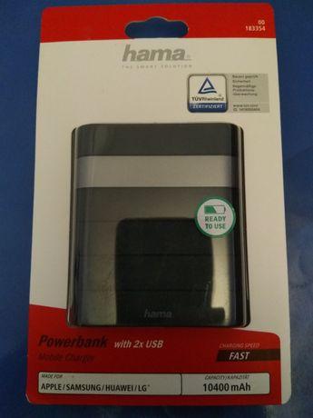 Powerbank hama 10400 mAh, 2 x USB,  bateria zewnętrzna
