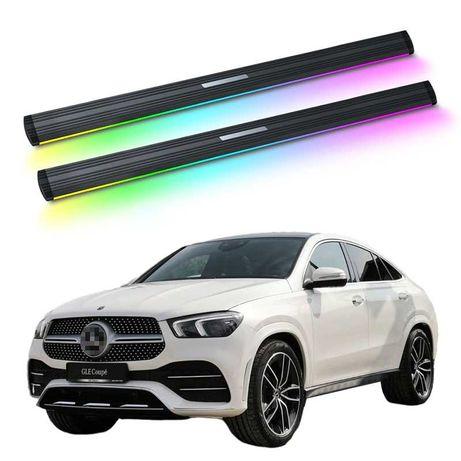Mercedes GLS GLE  боковые автоматические подножки с  подсветкой