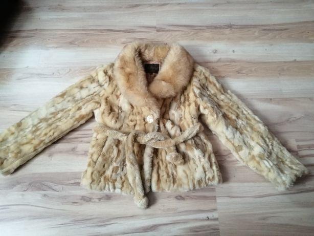 Kożuch kurtka plusz futro ciepłe retro PRL vintage stylowe zima 44 42