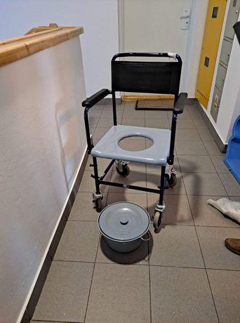 Toaleta przenośna + wózek inwalidzki