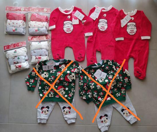 Roupa de Bebé para Natal - Vários Tipos e Tamanhos