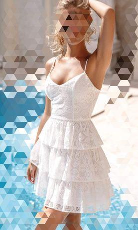 Платье Сарафан Gepur белый кружевной