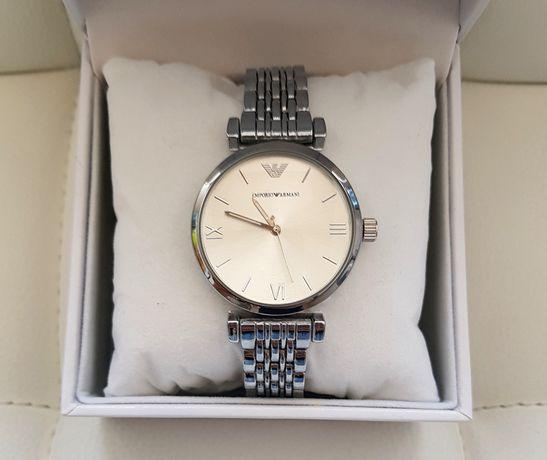 Armani zegarek damski srebrny