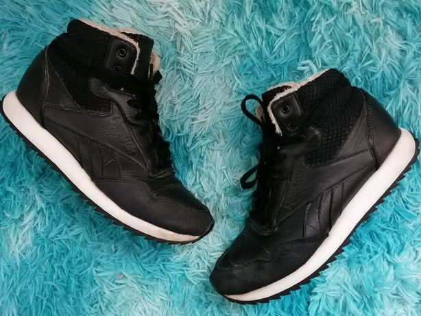 Sneakersy Reebok Rockeasy Ripple skórzane czarne ocieplane 38 traperki