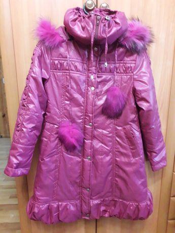 НОВАЯ демисезонная куртка пальто для девочки  134-146 р.