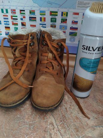 Ботинки зимние сапожки Берегиня размер 31 натуральный замш