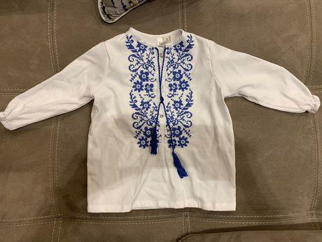Вышиванка, вышитая сорочка, рубашка 75-80 см