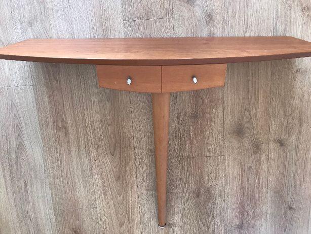 Consola em madeira com gaveta