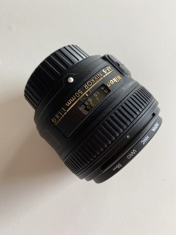 Obiektyw AF-S NIKKOR 50mm 1.8 G ze szkłem ochronnym UV Hoya