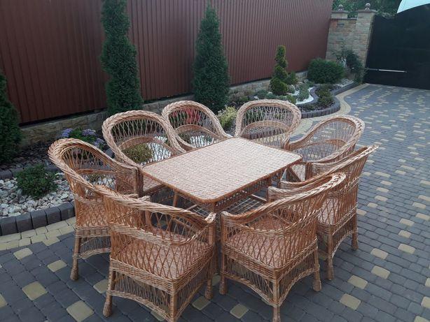 Мебель садова из лози