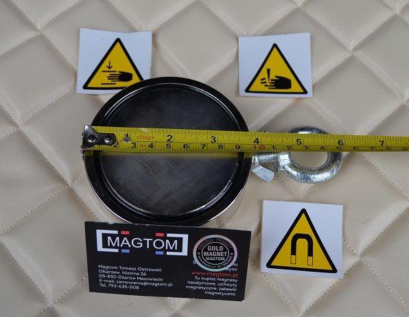 Magnes neodymowy do poszukiwań uchwyt boczny 600kg F300 N50 GOLD Ożarów Mazowiecki - image 1