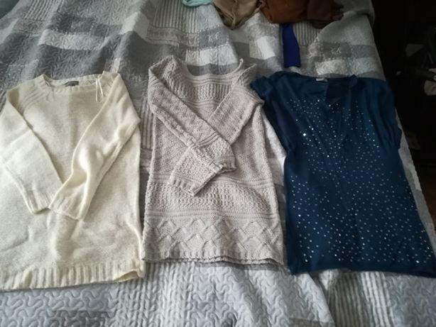 tuniki beżowa niebieska mało używane S/M
