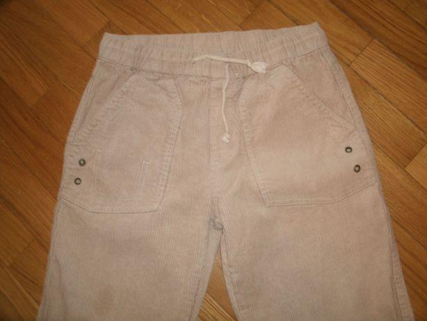 Calças da girândola - bombazine de cor pérola -10 anos