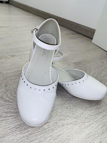 Buty komunijne białe rozm 34