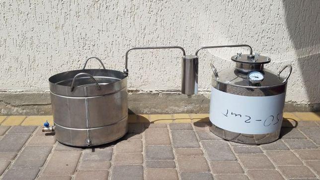 Дистиллятор на 30л под непроточную воду с пищевой нержавейки с ТЭНом