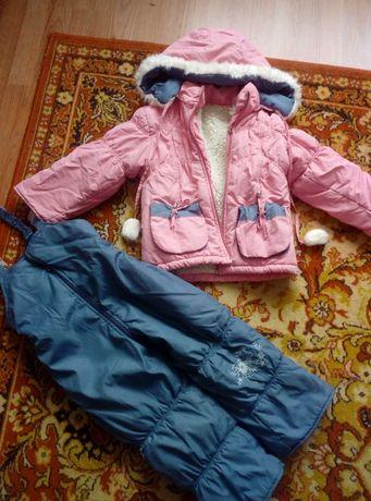 Зимовий комплект куртка та штани на дівчинку