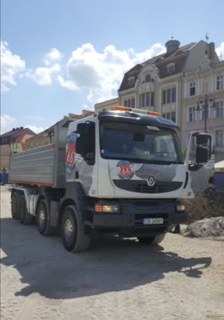 Gruz kruszony kruszywo betonowe/ceglane recykling gruz budowla wywrotk