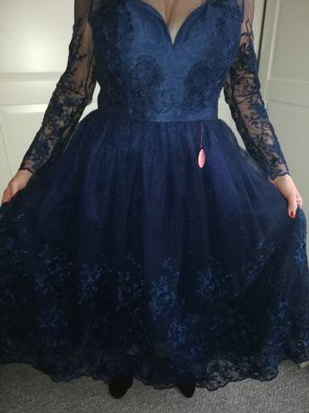 Cudo- granatowa sukienka