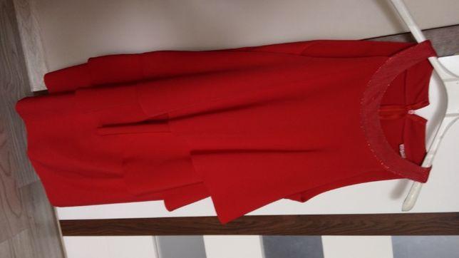 czerwona sukienka L