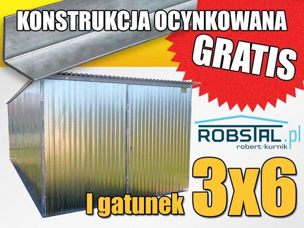 Garaż blaszany 3x6 ocynkowany wysoka jakość garaże blaszaki hale wiaty