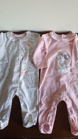 Conjunto 2 babygrow mayoral 2-4 meses finos