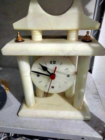 Relógio Mármore  Branco