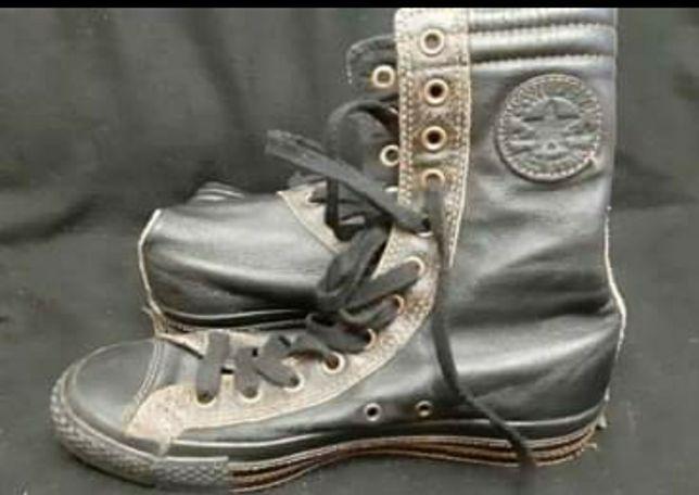 Trampki skórzane wysokie Converse Chuck Taylor All Star