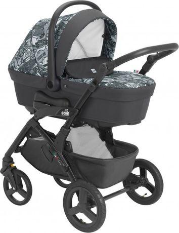 Детская коляска 3 в 1 CAM Dinamico Up Smart White/Grey