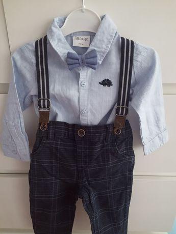 Spodnie koszula / zestaw do chrztu chłopiec r. 68 - 74