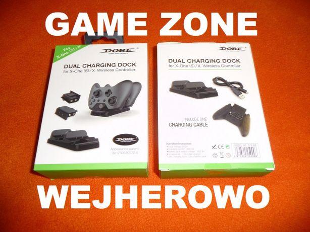 Stacja ładowania + 2 aku Xbox One + S + X = Play & Charge = Wejherowo