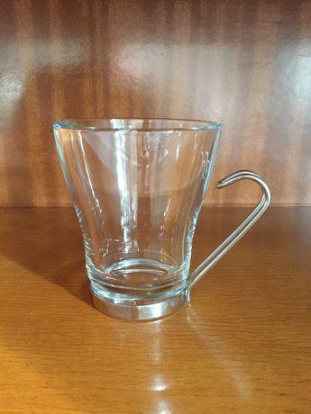 6 szklanek  z uchwytem do np. capuccino  , PRL