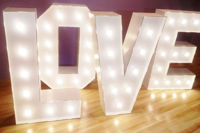 Wynajmę napis LOVE-wysokość 120cm-cena 299zł WOLNE TERMINY