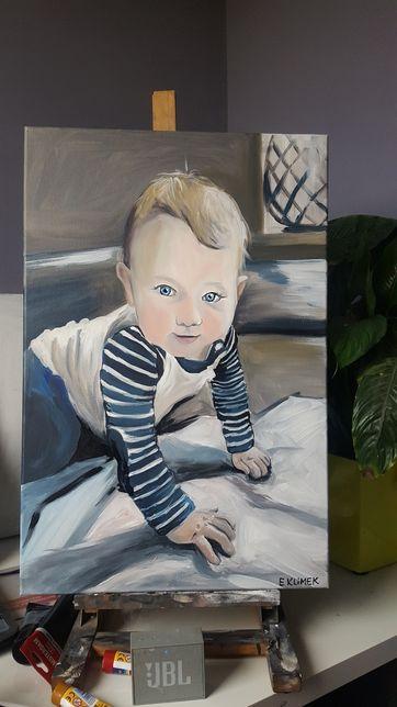 Portret dziecka ręcznie malowane na prezent