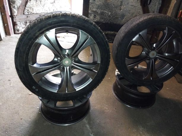 Oxigin Made in German Alu z oponami 17 5x100 vw/seat /audi /skoda