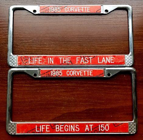Ramki tablic rejestracyjnych z USA - CORVETTE