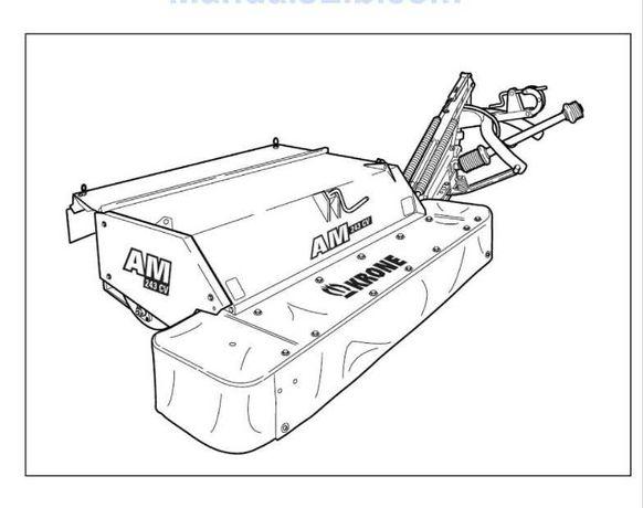 Instrukcja obsługi kosiarki Krone AM 203 CV, AM 243 CV, AM 283 CV