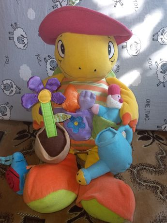 Черепаха фирмы Tolo, мягкая игрушка черепашка