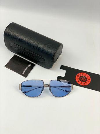 Очки солнцезащитные оправа линза полароид UV400 Chrome Hearts g170