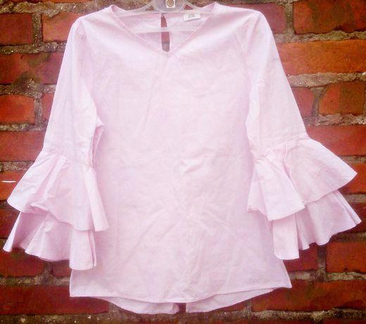 Piekna elegancka bluzeczka ,rekawy z falban