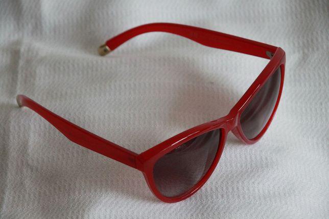 H&M okulary przeciwsłoneczne - czerwone