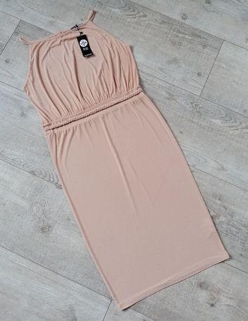 Boohoo_sexy sukienka midi Stone_rozmiar 44/46