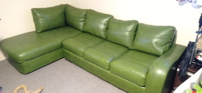 Narożnik Eco skóra kanapa łóżko 285x180