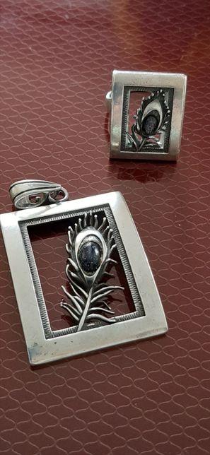 Komplet srebro 925 z nocą kairu