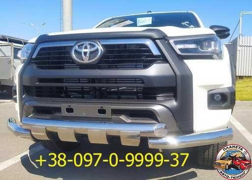 Кенгурятники Toyota Hilux 2008-2021 пороги защита бампера дуги в кузов