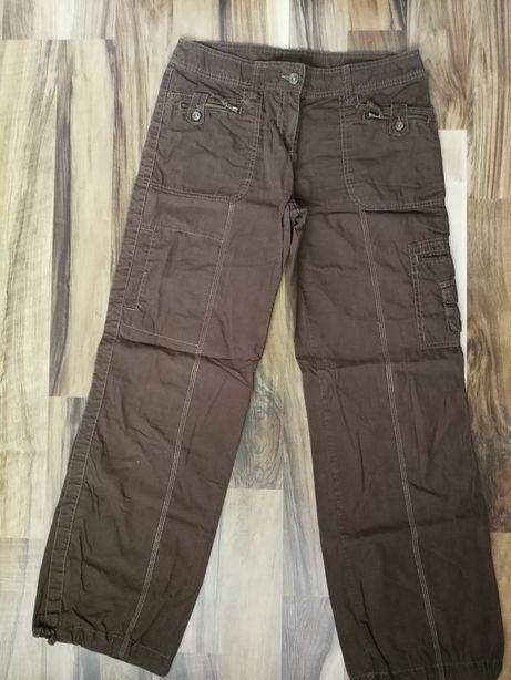 Brązowe spodnie letnie 40 Next, stan idealny, na rower, na wycieczke