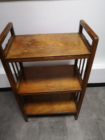 Stolik szafka półka PRL stary drewno mebel