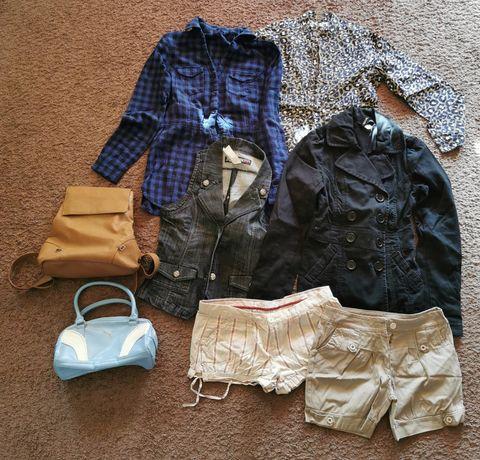 Odzież damska sukienki spodnie koszulki roz S