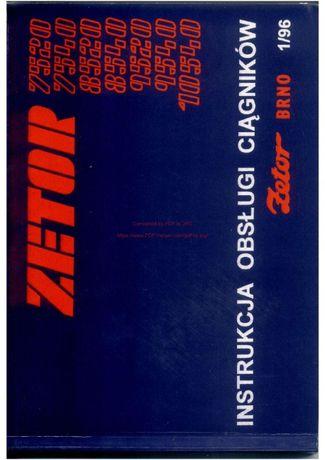 Instrukcja obsługi Zetor 7520,-10540